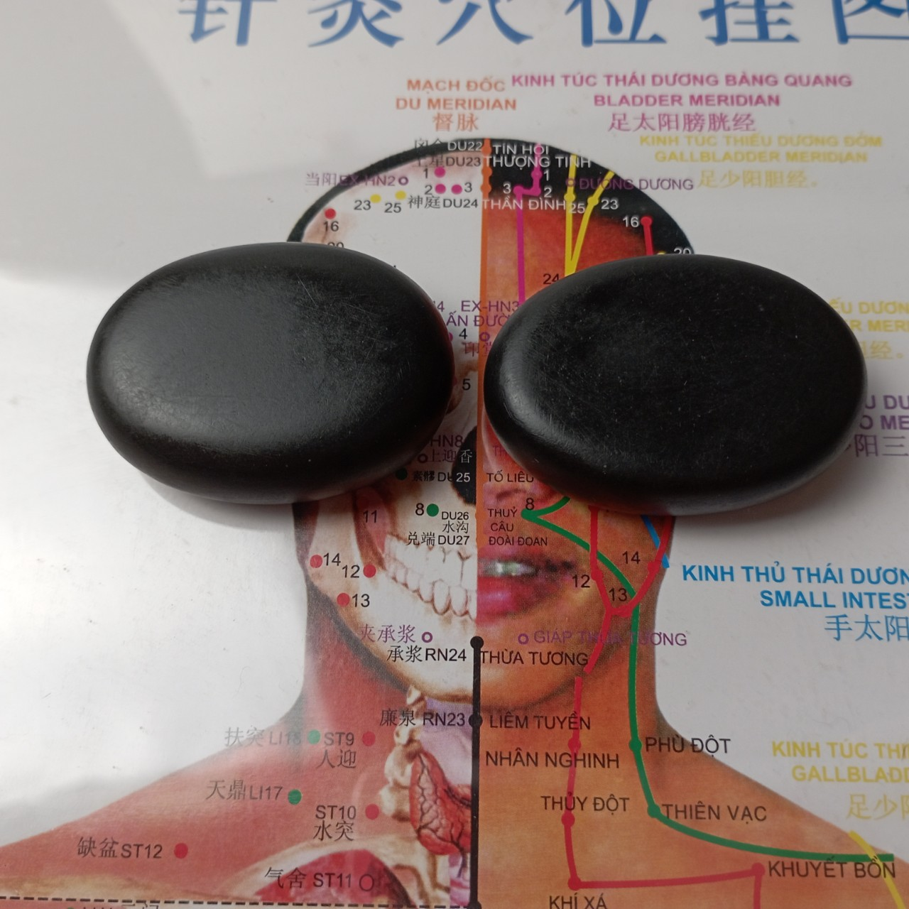 Đá nóng massage mặt